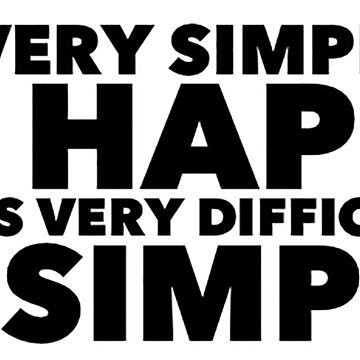 Rabindranath Tagore quote - happy and simple by savantdesigns