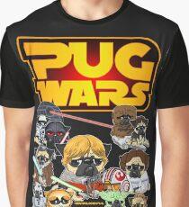 Pug-Kriege Grafik T-Shirt