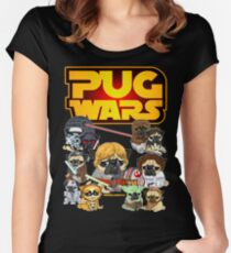 PUG WARS Women's Fitted Scoop T-Shirt