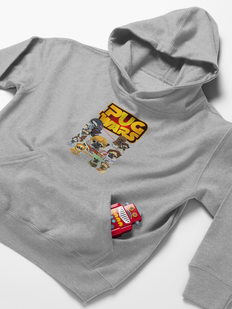 Alternate view of PUG WARS Kids Pullover Hoodie