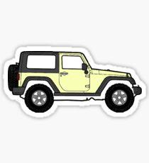 Pastel Yellow jeep Sticker