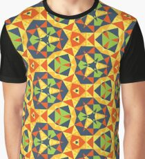 design colorful illustration geometry polygon seamless repeat pattern Graphic T-Shirt