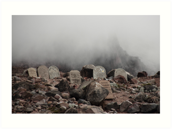 Mountain grave stones head stones by Kendall Anderson