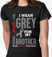 I Wear Grey For My Brother (Brain Cancer Awareness) T-Shirt