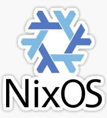 NixOS w/ Text Sticker Sticker