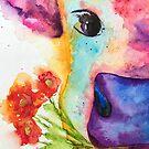 Lotty the Watercolor Cow by Jeri Stunkard