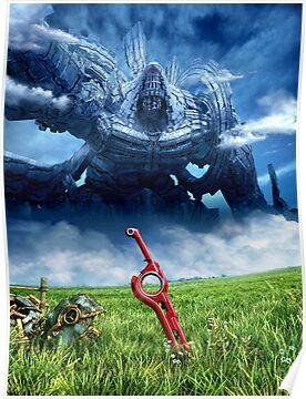 Xenoblade Chronicles Artwork Design Poster