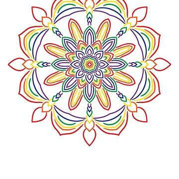 Rainbow Mandala by Mayhill