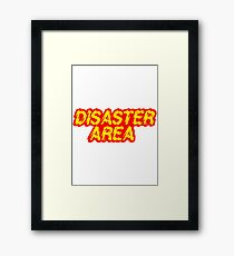 Disaster Area - Generally regarded as not only the loudest rock band in the Galaxy, but also as being the loudest noise of any kind at all. Framed Print