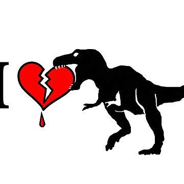 Dinosaur eats heart by NewSignCreation