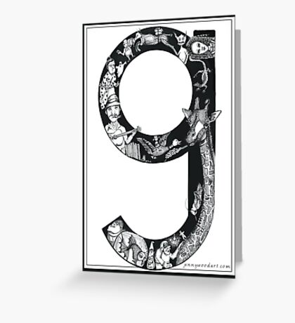 The letter 'g' Greeting Card