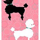 Pink Poodle by TonyaNewtonArt