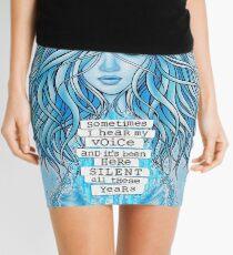 Sometimes I Hear My Voice Mini Skirt