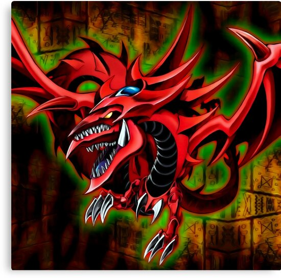 Yu Gi Oh Duel Monsters Slifer The Sky Dragon Card Artwork Canvas