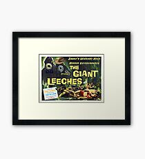 Zaago presents: The Giant Leeches Framed Print