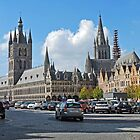 Grote Markt, Ypres  by Graeme  Hyde