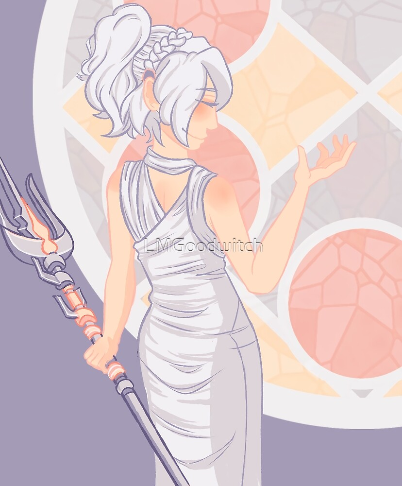 Stained Glass Lunafreya by LMGoodwitch