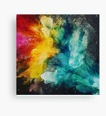 Color explosion in space Canvas Print