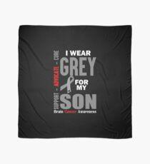 I Wear Grey For My Son (Brain Cancer Awareness) Scarf