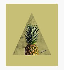 Aloha Sweet Pineapple Geometry  Photographic Print
