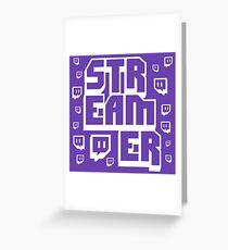 Streamer Twitch Greeting Card