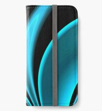 Abstract Fractal Colorways 02 Pacific Blue iPhone Wallet/Case/Skin