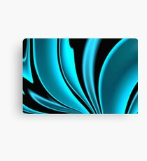 Abstract Fractal Colorways 02 Pacific Blue Canvas Print