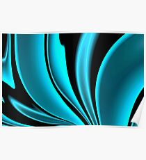 Abstract Fractal Colorways 02 Pacific Blue Poster