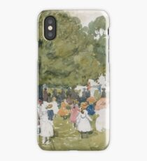Pedestrians in a Park iPhone Case