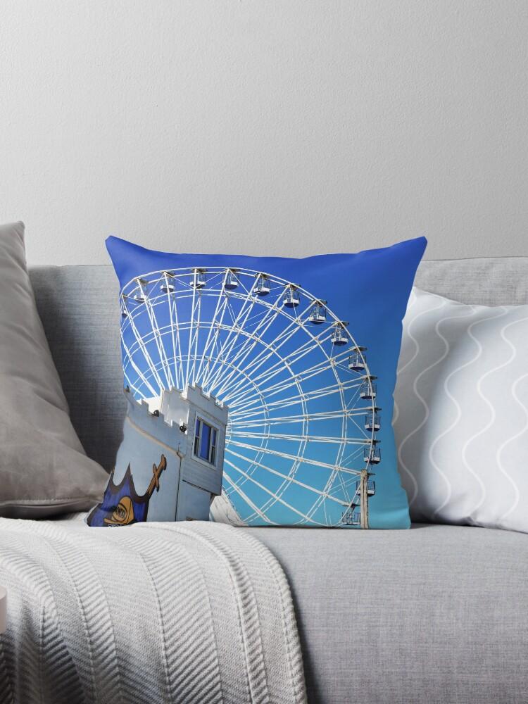 Ferris Wheel Ocean City Nj Throw Pillow By Joaniedrake Redbubble