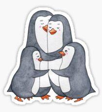 Penguins family. Hug Sticker