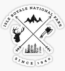 Isle Royale National Park Souvenir Sticker