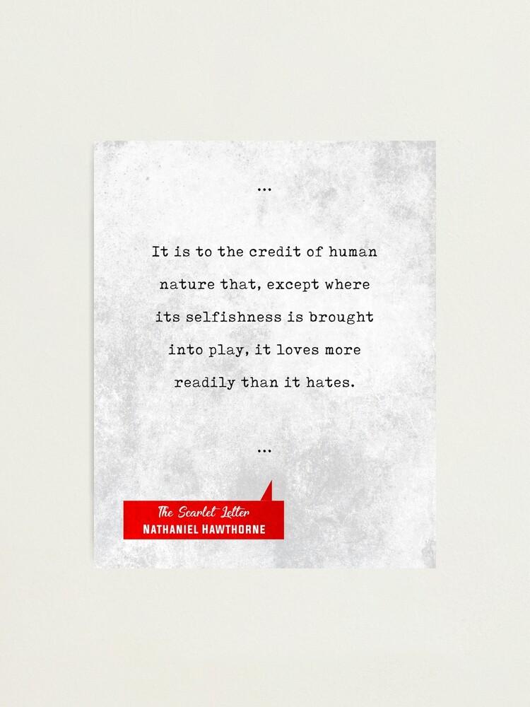 Citas De Nathaniel Hawthorne La Letra Escarlata Citas Literarias Regalos Del Amante Del Libro Lámina Fotográfica