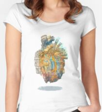 Heart City - Transfer Metropolis Women's Fitted Scoop T-Shirt