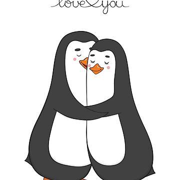 Penguins in love by AllaRi