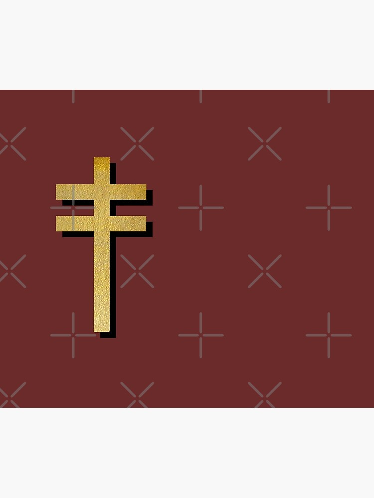 (MAROON BACKGROUND VERSION) Frightened Rabbit Inspired Design - Frightened Rabbit Cross - Cross by baileywillhite