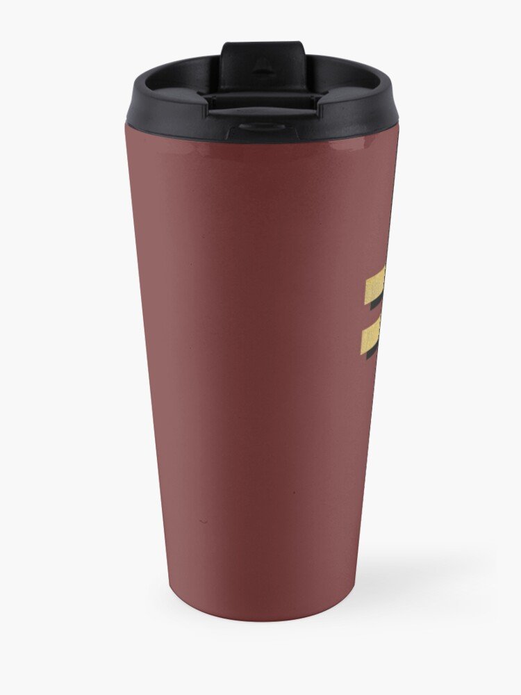 Alternate view of  (MAROON BACKGROUND VERSION) Frightened Rabbit Inspired Design - Frightened Rabbit Cross - Cross Travel Mug
