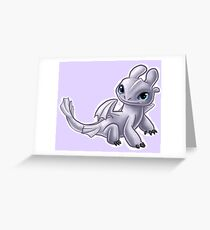 Baby Light Fury Greeting Card