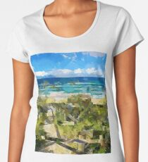 Beach Walk Women's Premium T-Shirt