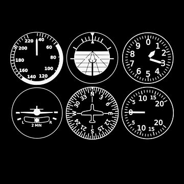 Basic flight instruments by bumblethebee