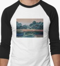 Sunset Time Men's Baseball ¾ T-Shirt