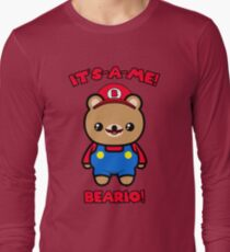 Funny Bear Cute Kawaii Mario Parody Long Sleeve T-Shirt