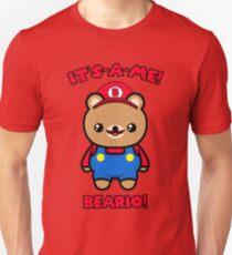 Funny Bear Cute Kawaii Mario Parody Unisex T-Shirt
