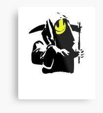 Banksy Sourire Grim Reaper! Impression métallique