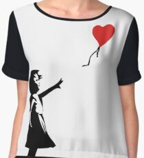 Banksy Letting Love Go! Balloon Girl!  Chiffon Top