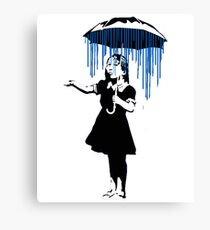 Banksy Raining on the Inside! Canvas Print