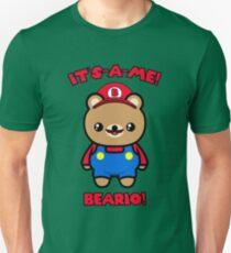 Bear Cute Kawaii Funny Mario Parody Unisex T-Shirt