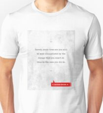 H.Jackson Brown Jr. Quotes - Literary Quotes - Book Lover Gifts - Typewriter Quotes Unisex T-Shirt