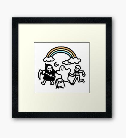 Spooky Pals Framed Print