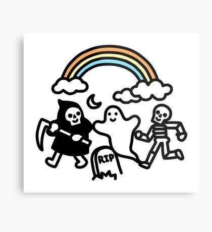 Spooky Pals Metal Print